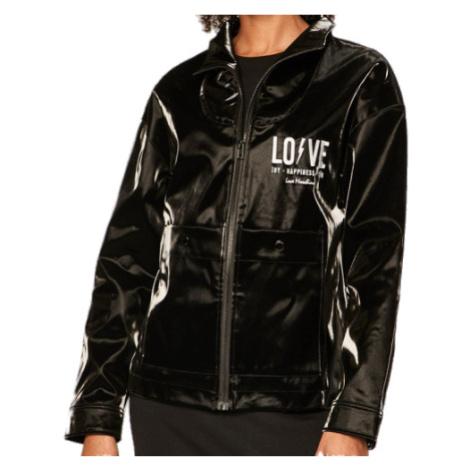 Černá nepromokavá lesklá bunda - LOVE MOSCHINO