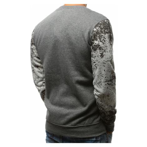 Gray men's sweatshirt with print BX3523 DStreet