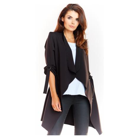 Dámský kabátek volný kardigan s výstřihem s dlouhými rukávy
