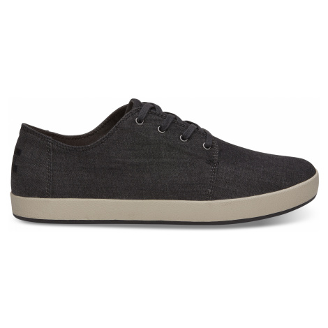 BLACK CHAMBRAY MN PAYT SNEAK Toms