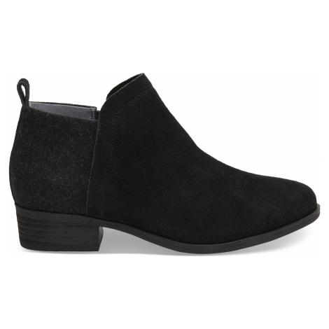 DEIA-Black Suede/Wool Toms