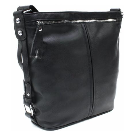 Černá velká moderní crossbody kabelka Ulbiel Mahel