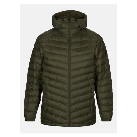 Bunda Peak Performance Frost Down Hood Jacket - Zelená