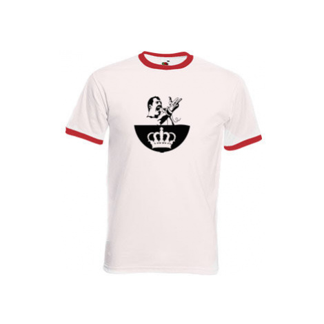 Pánské tričko s kontrastními lemy Freddie Mercury - Queen
