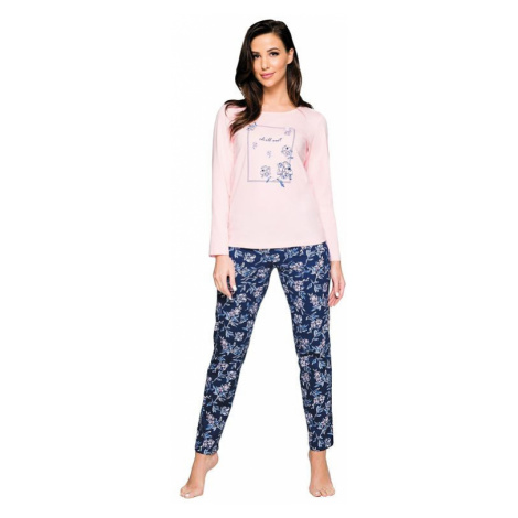 Dámské pyžamo Regi chill out růžové