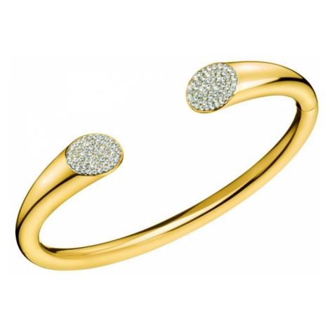 Calvin Klein Pevný pozlacený náramek s krystaly Brilliant KJ8YJF1401 5,4 x 4,3 cm - XS