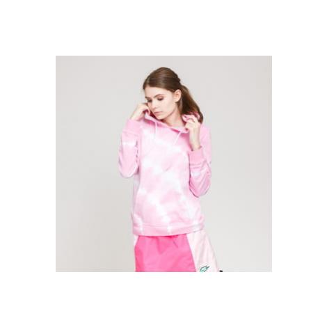 Urban Classics Ladies Tie Dye Hoody růžová / bílá