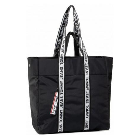 Tommy Hilfiger Tommy Jeans dámská černá kabelka LOGO TAPE TOTE NYL