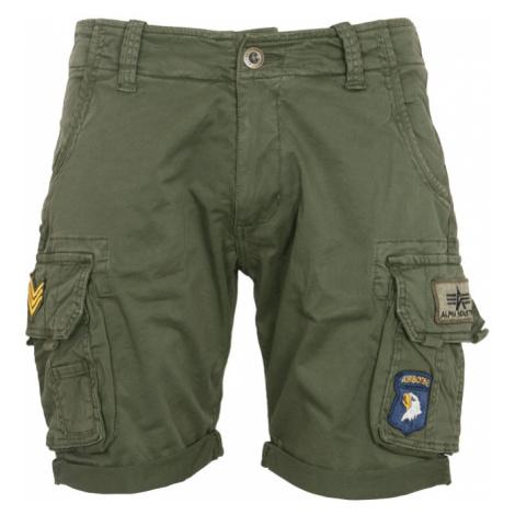Alpha Industries Kalhoty krátké Crew Short Patch olivová tmavá