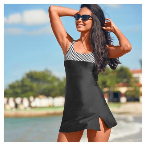 Blancheporte Jednodílné plavky se sukénkou Laconi černá