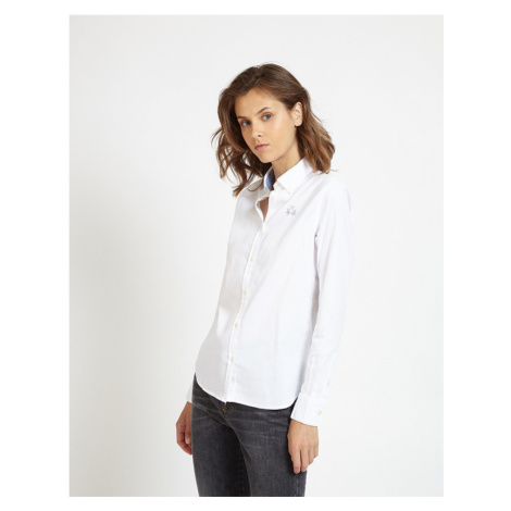Košile La Martina Shirt L/S Oxford Stretch - Bílá