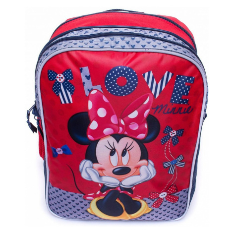červený dívčí školní batoh s motivem minnie mouse BASIC