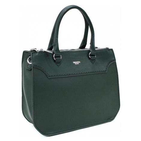 Tmavě zelená dámská kabelka do ruky i přes rameno Ophelia Mahel