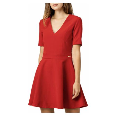 Červené šaty - TRUSSARDI JEANS