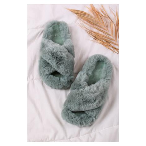 Mátové kožešinové pantofle Darcy Mulanka