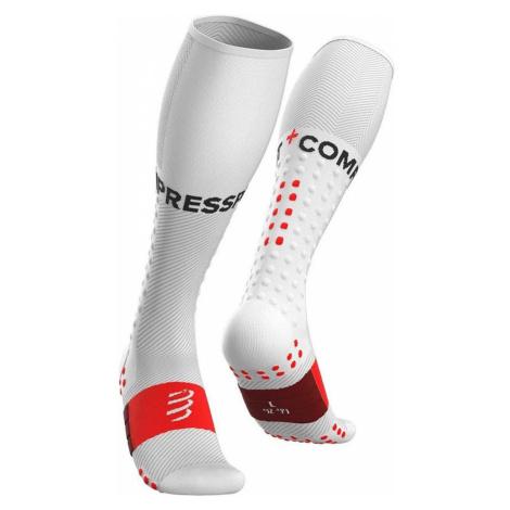 Ponožky Compressport FULL SOCKS RUN bílá