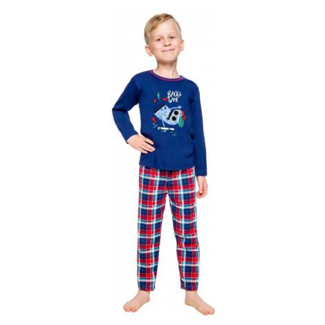 Taro Klučičí pyžamo Leo tmavě modré