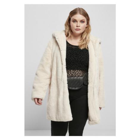 Urban Classics Ladies Hooded Teddy Coat offwhite
