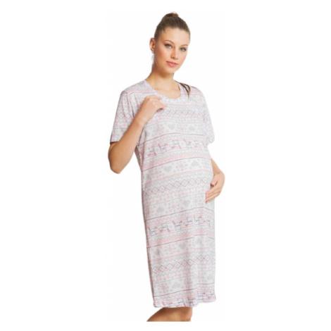 Dámská noční košile mateřská Vienetta Secret Monika | světle šedá