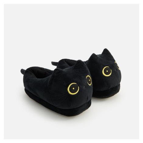 Reserved - Papuče ve tvaru kočky - Černý