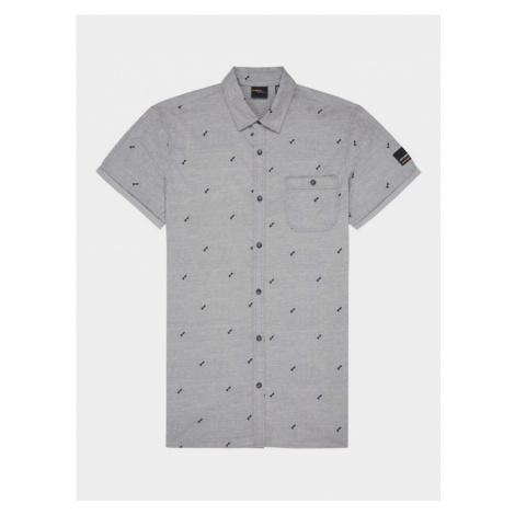 Košile O´Neill Lm Allover Summer S/Slv Shirt Šedá O'Neill