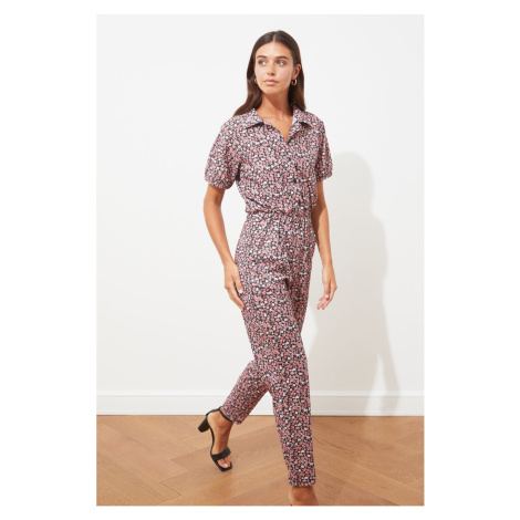 Trendyol Multi Color Knitted Polo Neck Jumpsuit
