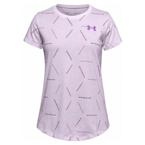 Dětské tričko Under Armour Twitch Multi Print Fialová