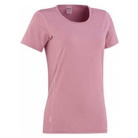 KARI TRAA NORA TEE růžová - Dámské tréninkové tričko