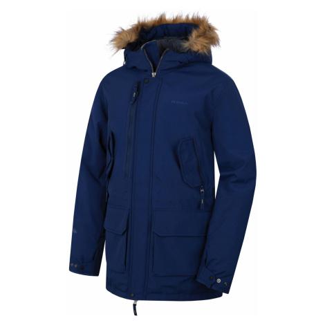 Husky Nelidas pánský plněný zimní kabát tmavě modrý