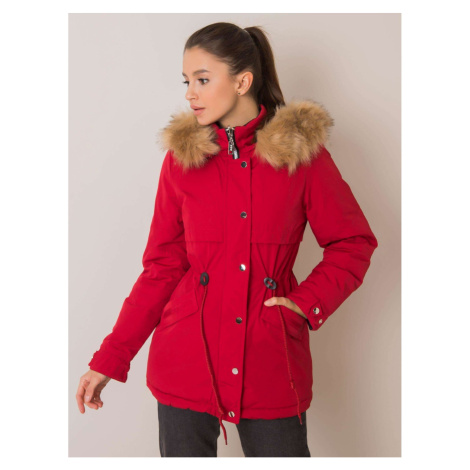 Reversible red and black parka jacket Fashionhunters