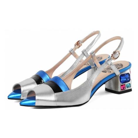 Originální sandály dámské letní boty svatební s páskem za patu