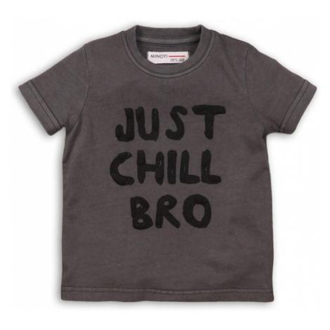 Tričko chlapecké s krátkým rukávem, Minoti, TIGER 4, šedá