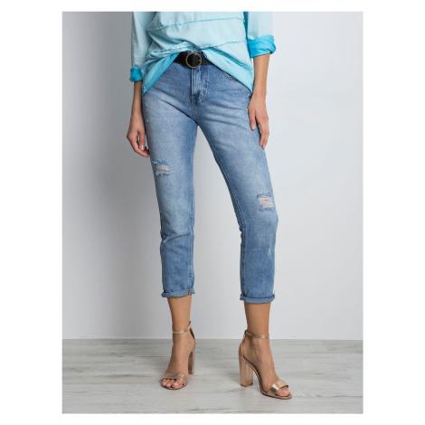 Roztrhané máma džíny v modré barvě FPrice