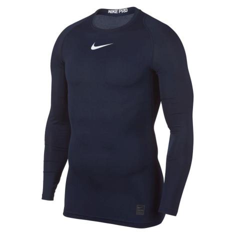 Termo tričko Nike Pro Top s dlouhým rukávem Tmavě modrá