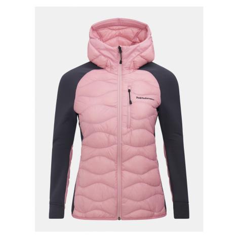 Bunda Peak Performance W Helium Hyb Hood Jacket - Růžová