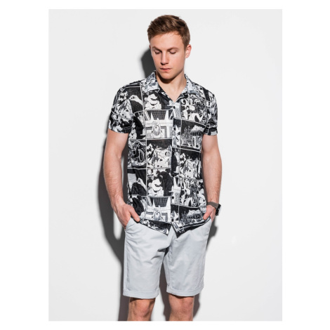 Ombre Clothing Men's shirt with short sleeves K549