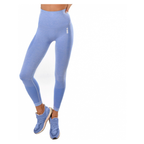 Dámské Legíny Boco Wear Blue Melange Push Up Modrá