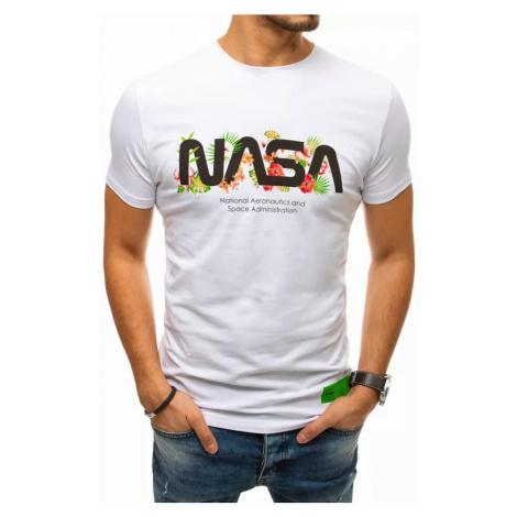 Dstreet Originální bílé tričko s potiskem NASA