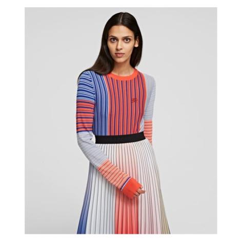 Svetr Karl Lagerfeld Multicolor Striped Sweater - Různobarevná
