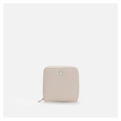 Reserved - Malá peněženka z umělé kůže - Krémová