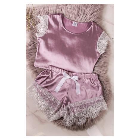 Fialové krajkové pyžamo Lila Set Bruuu