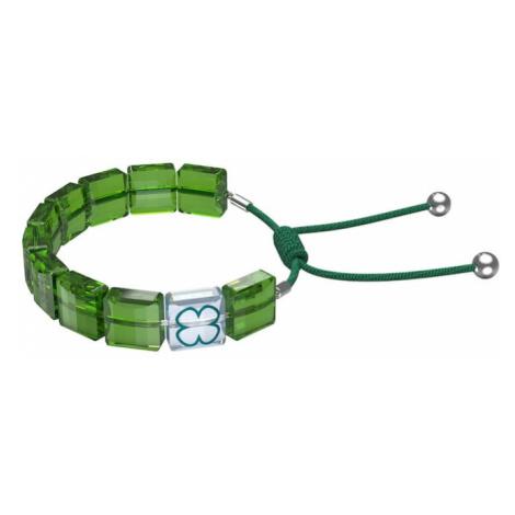 Swarovski Náramek 'LETRA' zelená / tmavě zelená / petrolejová / stříbrná