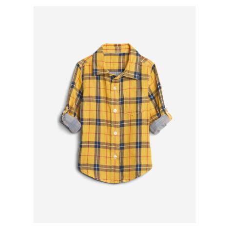 Košile dětská GAP Žlutá