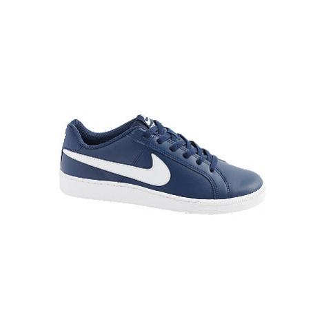 Modré kožené tenisky Nike Court Royal