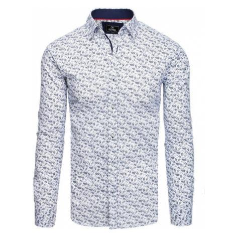 Dstreet Atraktivní bílá košile PREMIUM