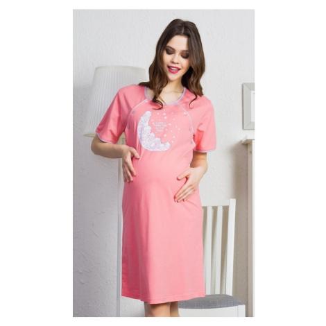 Dámská noční košile mateřská Beránci, XL, lososová Vienetta Secret
