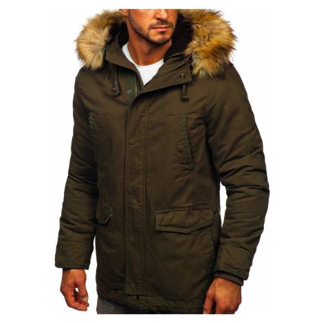 Zelená pánská zimní/jarní bunda 2v1 parka Bolf 5284 Nature