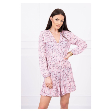 Floral suit powdered pink