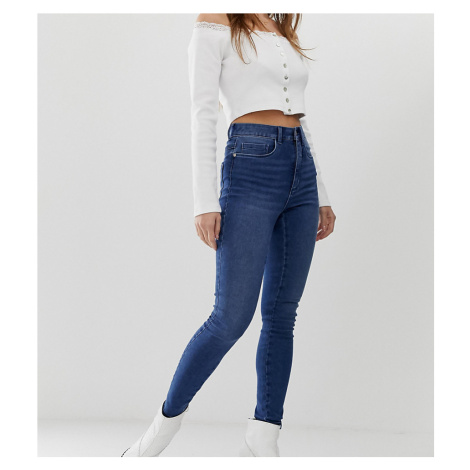 Only Petite high waist skinny jean-Blue