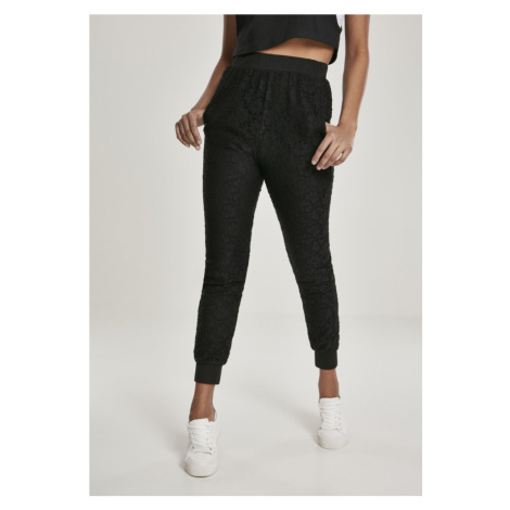 Ladies Lace Jersey Jog Pants Urban Classics